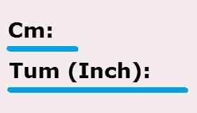 1 tum till cm