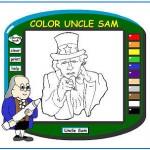 Färglägg farbror Sam