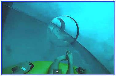 Vattenrutschkana blå