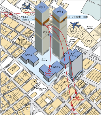 Impact Map: – The best World Trade Center footage ! on north tower impact, world train center, world missions, twin towers impact, wtc impact,